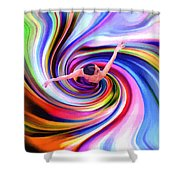 The Colorful Ballet Dress Shower Curtain