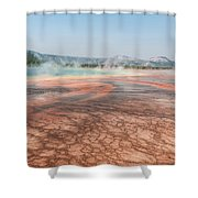 The Colorful Grand Prismatic Spring Shower Curtain