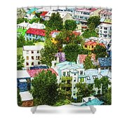 The Colors Of Reykjavik Shower Curtain