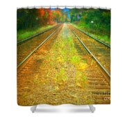 The Colour Along The Tracks Shower Curtain