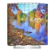 The Colours Of October Shower Curtain