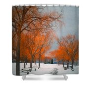 The Colours Of Winter Shower Curtain