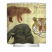 The Columbus, Oh Zoo Shower Curtain