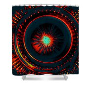 The Combustion Of Passion Shower Curtain