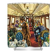 The Comfort Of The Pullman Coach Of A Victorian Passenger Train Shower Curtain