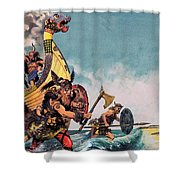 The Coming Of The Vikings Shower Curtain