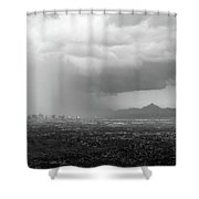 The Coming Storm Black And White Shower Curtain