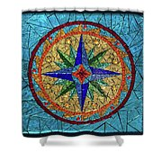The Compass Shower Curtain