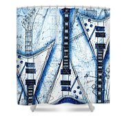 The Concorde Blueprint Shower Curtain