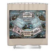 The Confederate Note Memorial  Shower Curtain