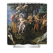 The Contest Between Apollo And Pan, 1600 Shower Curtain