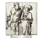 The Cook And His Wife Shower Curtain