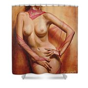 The Coral Bracelet Shower Curtain by Sergey Ignatenko
