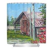 The Corn Crib Shower Curtain