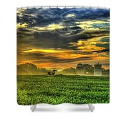 The Cornfield Dawn The Iron Horse Collection Art  Shower Curtain