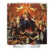 The Coronation Of The Virgin 1626 Shower Curtain