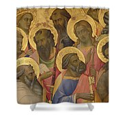 The Coronation Of The Virgin Shower Curtain by Lorenzo Monaco