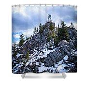 The Cosmic Ray Station Atop Sulphur Mountain, Banff, Canada Shower Curtain
