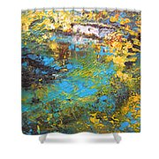 The Cottage By The Lagoon Shower Curtain