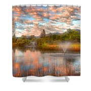 The Cotton Candy Sky Shower Curtain