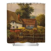 The Country Cottage Shower Curtain