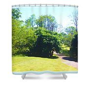 The Country Lane In Spring Time Shower Curtain