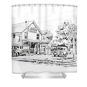 The County Line Store, 1931 Shower Curtain