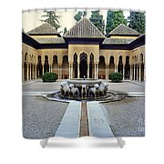 The Court Of The Lions Alhambra Spain Shower Curtain