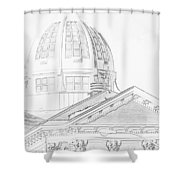 The Courthouse Shower Curtain