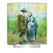 The Courtship Of Miles Standish Shower Curtain