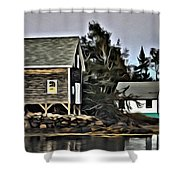 The Cove At Dusk Shower Curtain