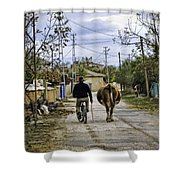 The Cow Herder Shower Curtain