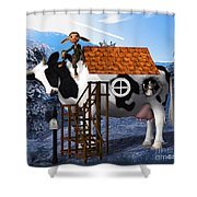The Cow House Shower Curtain