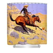 The Cowboy 1902 Shower Curtain