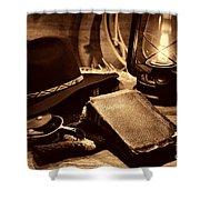 The Cowboy Bible Shower Curtain