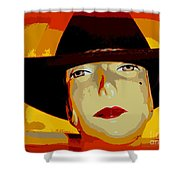The Cowgirl Shower Curtain