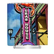 The Crab House Seafood Grill Shower Curtain