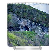 The Craggy Pinnacle Tunnel On The Blue Ridge Parkway In North Ca Shower Curtain