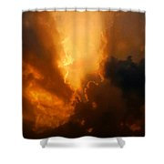 The Creation Of Light Shower Curtain