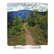 The Crooked Path Shower Curtain