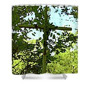 The Cross In Nature Shower Curtain