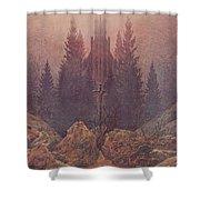 The Cross In The Mountains 1812  By Caspar David Friedrich 1774-1840 Shower Curtain