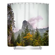 The Cross On The Top Of The Mountain Shower Curtain
