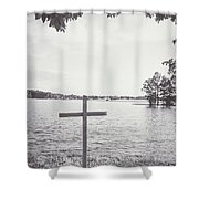 The Cross On The Water Shower Curtain