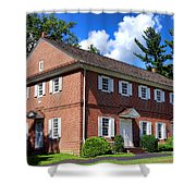 The Crosswicks Meeting House In Chesterfield  Shower Curtain