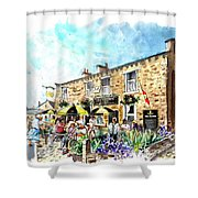 The Crown Hotel In Hawes Shower Curtain