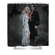 The Crows Wedding Shower Curtain