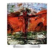 The Crucifixion #1 Shower Curtain by Michael Lucarelli