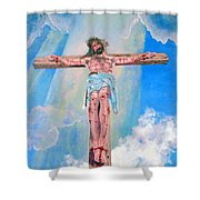 The Crucifixion Daytime Shower Curtain