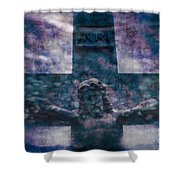 the Crucifixion of Jesus Shower Curtain